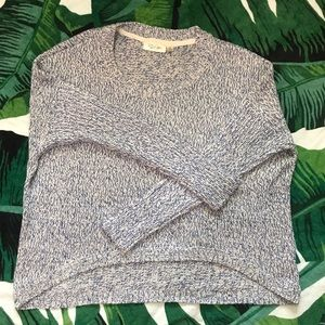 NWOT Blue and White High-low sweater